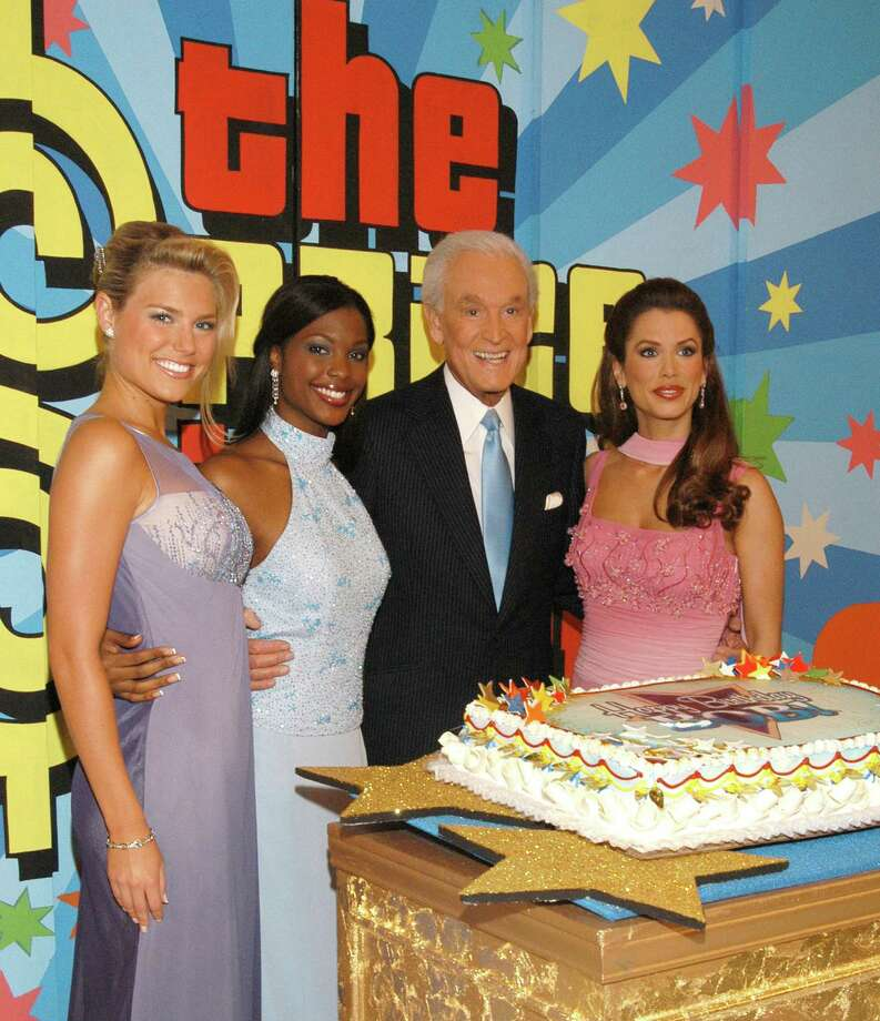 "2003: Rachel Reynolds, Lanisha Cole, Bob Barker and Brandi Sherwood at special daytime edition taping of ""The Price Is Right"" to celebrate Barker's 80th birthday. Photo: Mark Sullivan, Getty Images / WireImage"