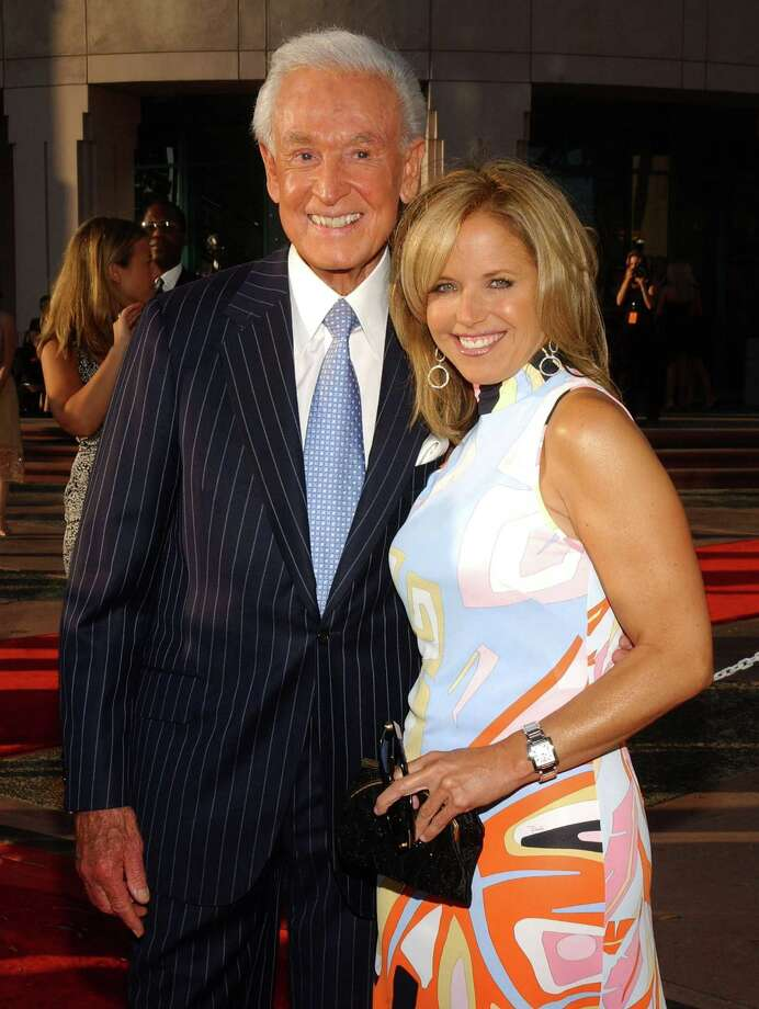 2004: Bob Barker and Katie Couric pictured during The Academy of Television Arts & Sciences 2004 Hall of Fame induction ceremony. Photo: Jean-Paul Aussenard, Getty Images / WireImage