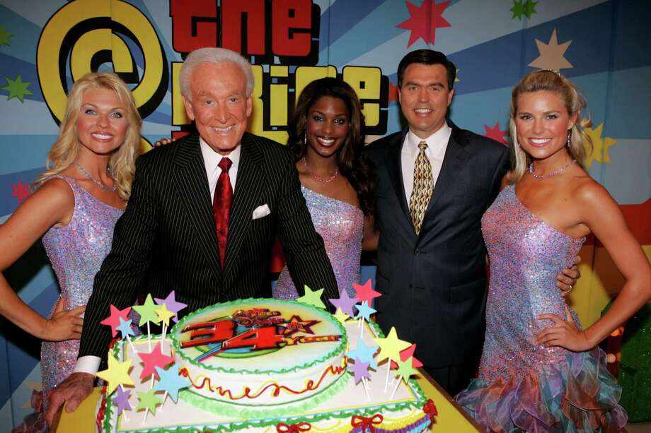 "2005: Shane Stirling, Bob Barker, Lanisha Cole, Rich Fields and Rachel Reynolds pictured on ""The Price is Right"" set. Photo: Jesse Grant, Getty Images / WireImage"