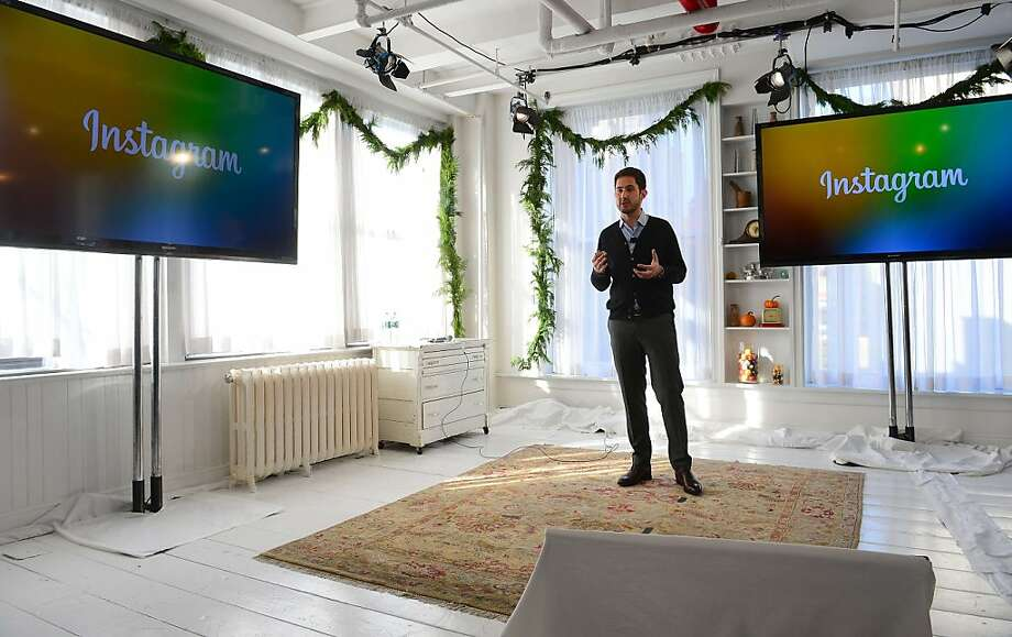 CEO Kevin Systrom discusses the addition of the Instagram Direct service during a news conference in New York. Photo: Emmanuel Dunand, AFP/Getty Images