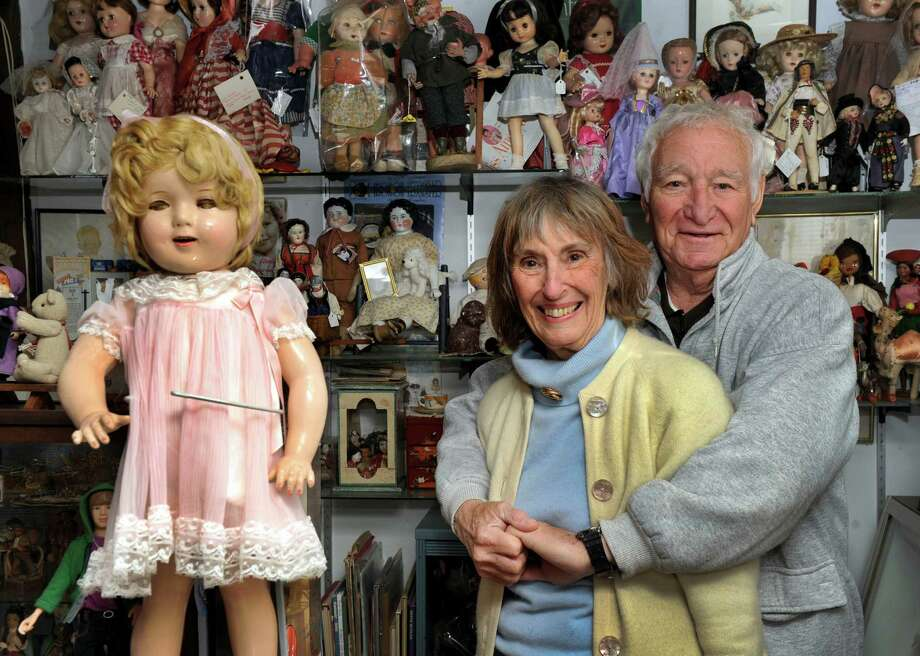 Wally and Dee Domroe, of Bridgewater, Conn. own The Doll Room - a combination doll repair shop, store  and museum. Photos taken Wednesday, Dec. 11, 2013. Photo: Carol Kaliff / The News-Times