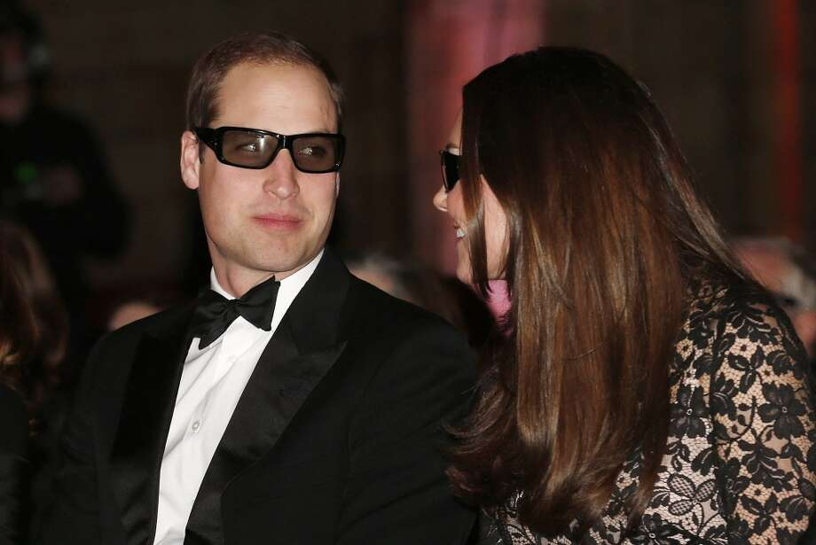 Catherine, Duchess of Cambridge and Prince William, Duke of Cambridge wear 3D glasses before a screening of David Attenborough's Natural History Museum Alive 3D at Natural History Museum on December 11, 2013 in London, England. Photo: WPA Pool, Getty Images