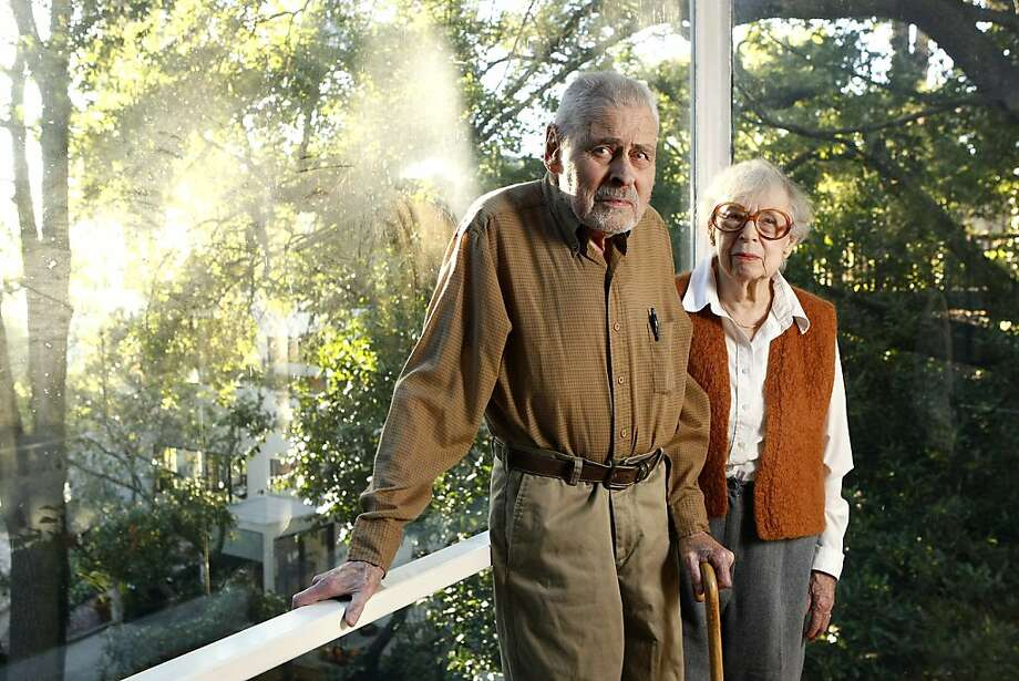 Donald Olsen, 94, with his wife Helen at their Berkeley home, one of many that he has designed. Photo: Michael Short, The Chronicle