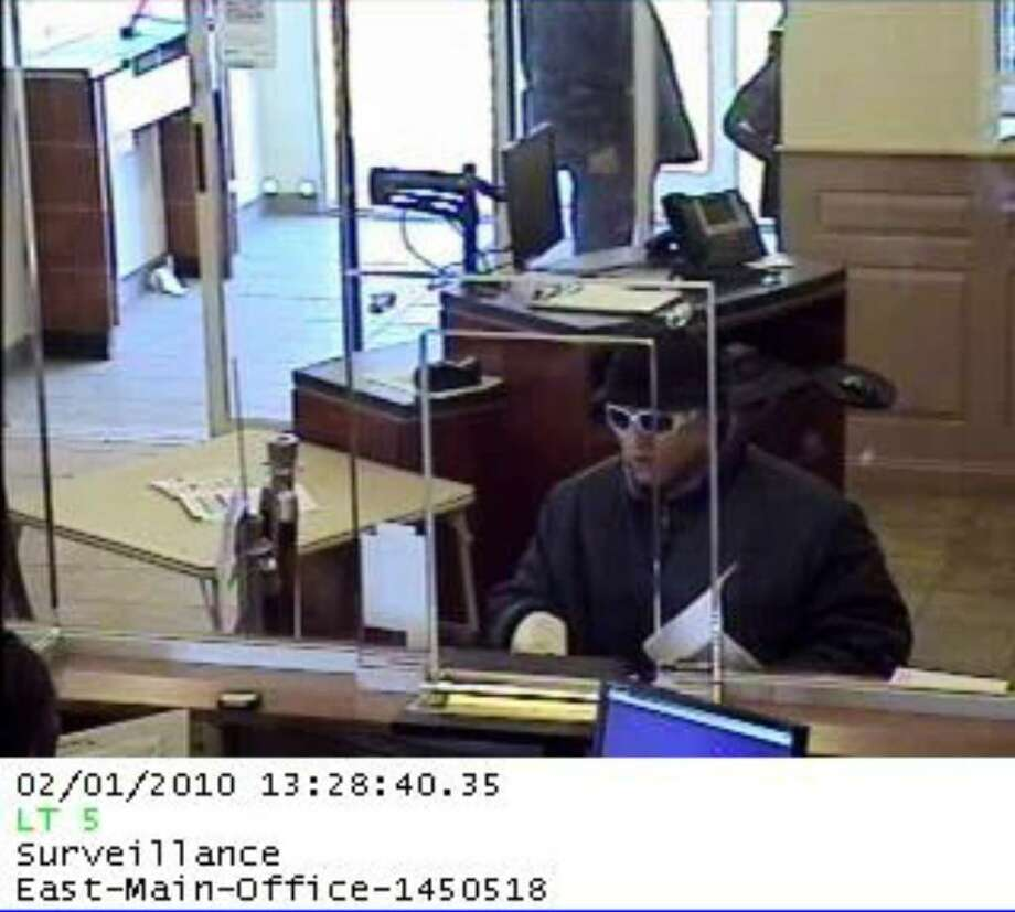 Suspect sought in connection with the Monday robbery of Bank of America on East Main Street in Bridgeport. Photo: Contributed Photo / Connecticut Post Contributed