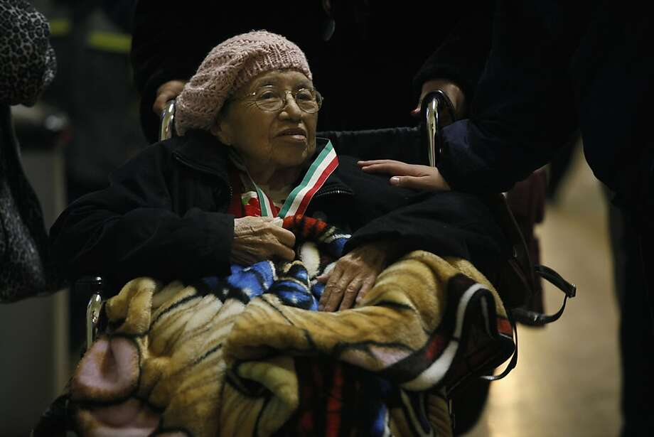Maria Yolanda Chavez, 90, co-founder of the Guadalupe Society of Mission Dolores Basilica. Photo: Liz Hafalia, Chronicle