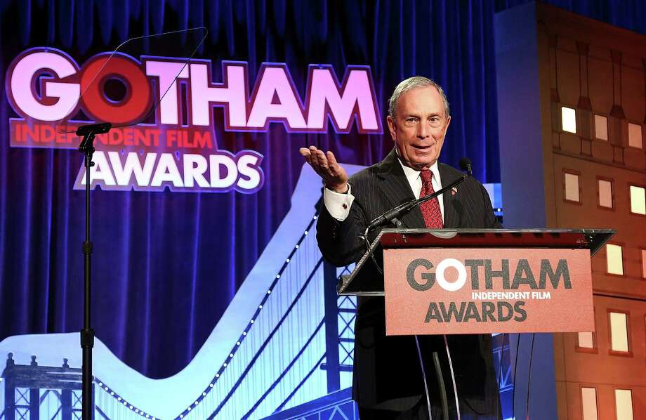 Give New York Mayor Michael Bloomberg credit for his efforts to speak Spanish, even if the results are perplexing. His second language is a work in progress. Photo: Monica Schipper / Getty Images / 2013 Getty Images