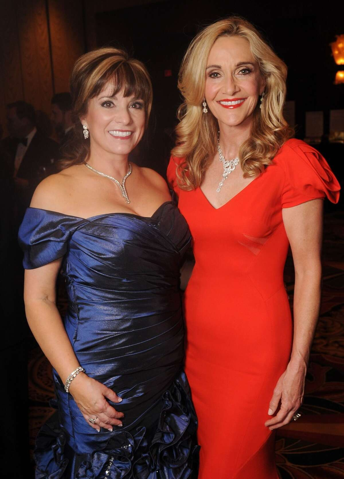 Women of Distinction Pamela Wright and Jana Arnoldy at the Winter Ball at the Hilton Americas Hotel Saturday Jan. 26.