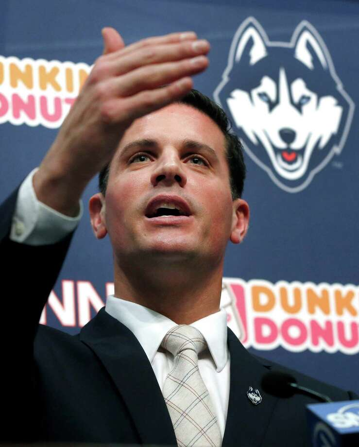 Bob Diaco, former Notre Dame defensive coordinator, speaks as Connecticut's new head football coach during an introductory news conference on campus in Storrs, Conn., Thursday, Dec. 12, 2013. Photo: Elise Amendola, AP / Associated Press