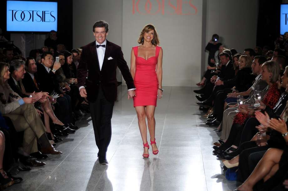 Nick Florescu and Dominique Sachse Florescu walk the runway at a fundraiser for Deck My Room at Tootsies on Feb. 12. Photo: Dave Rossman, For The Houston Chronicle