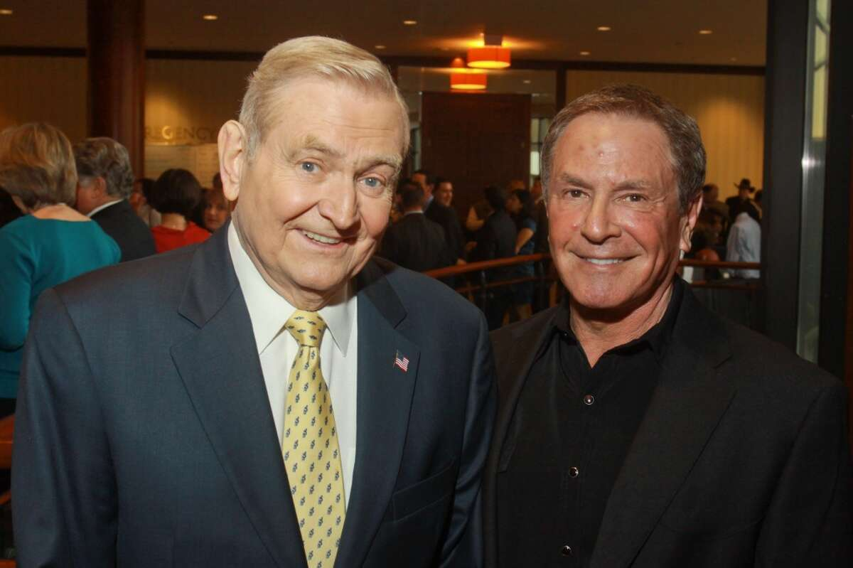 Dave Ward, left, and Bob Allen at the 11th annual Texas Legends Gala on March 25.