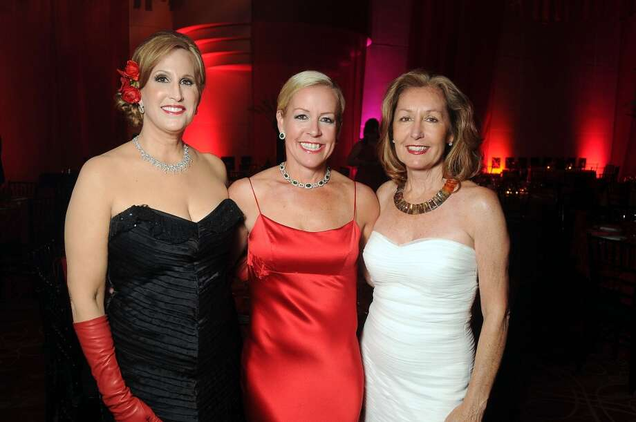 Chairs Vanessa Sendukas and Rosemay Schatzman with Jean Christensen at the Society for the Performing Arts gala at the Wortham Theater on April 20. Photo: Dave Rossman, For The Houston Chronicle