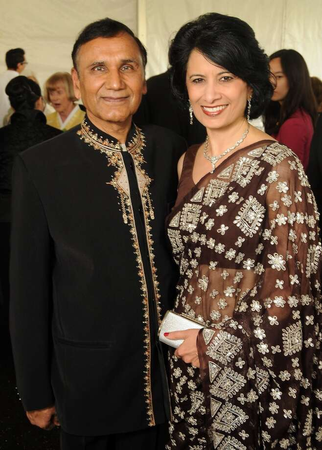 UH Chancellor Renu Khator with husband, Dr. Suresh Khator, associate dean of the Cullen College of Engineering, at the Asia Society's Tiger Ball on April 26. Photo: Dave Rossman, For The Houston Chronicle
