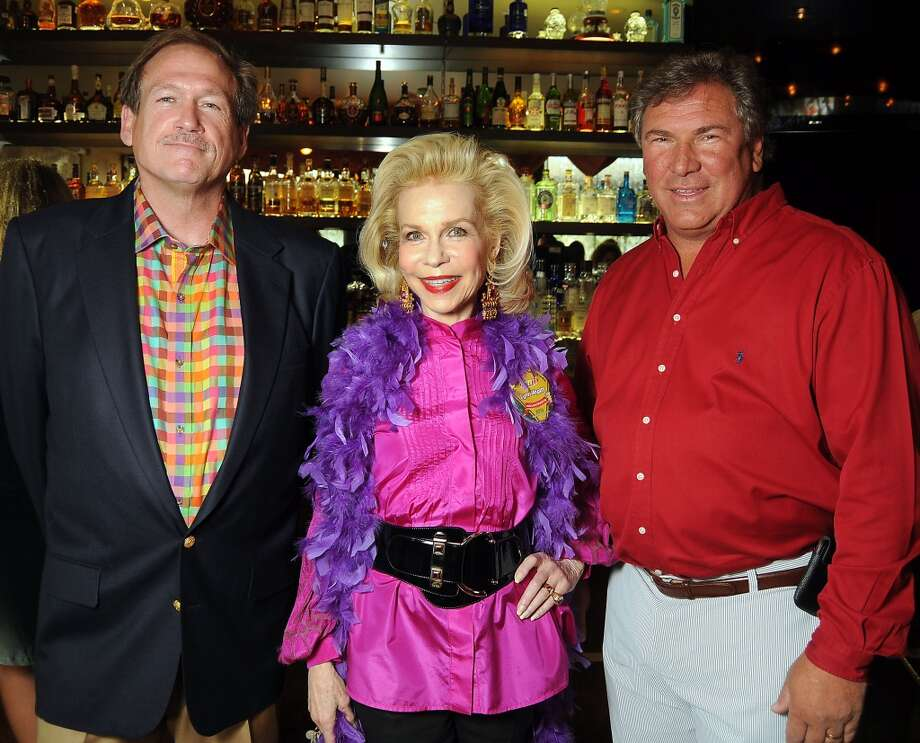 Hugh Menown, Lynn Wyatt and John Schiller at the 32nd annual Escape Celebrity Serve Benefit at Tony's restaurant on April 28. Photo: Dave Rossman, For The Houston Chronicle