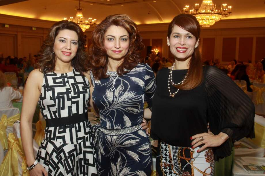 Parissa Mohajer, from left, Mahzad Mohajer and Karina Barbieri at the Haute for Hope Celebrity Luncheon and Fashion Show benefiting homeless children at Star of Hope on May 10. Photo: Gary Fountain, For The Chronicle
