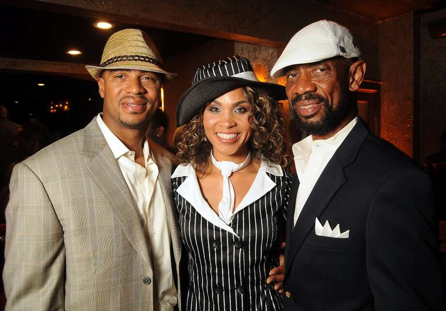 From left: Eric Brown, Dr. Heather Brown and Archie Brown at the Third Annual UrbanSouls Dance Company's Dancing with the Houston Stars event at Grooves Restaurant and Bar on May 19. Photo: Dave Rossman, For The Houston Chronicle