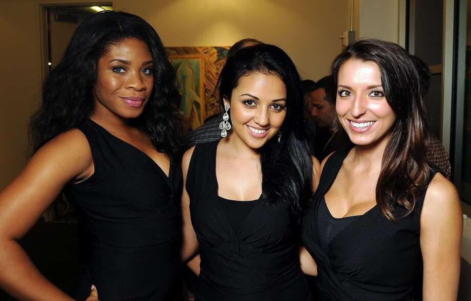 Meka Nnazoba, Jasmin Cortez and Whitney Pena at the Art 4 Life event benefitting AIDS Foundation Houston at the Architecture Center Houston on Sept. 28. Photo: Dave Rossman, For The Houston Chronicle