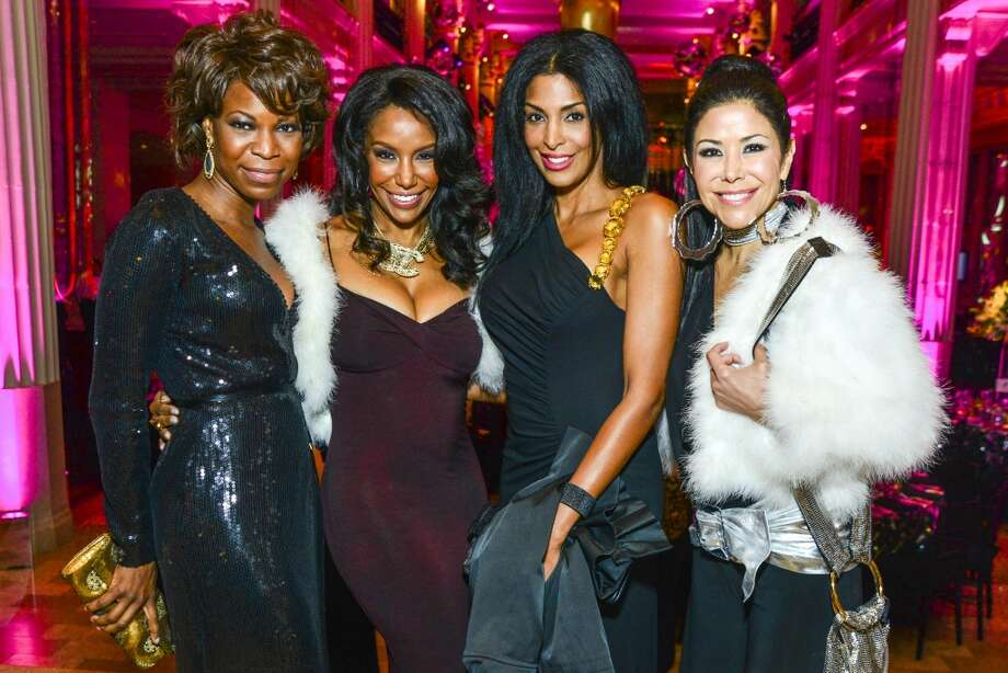 "Vanessa Sobers, Tiffany Smith, Ursaline Hamilton and Ericka Bagwell at ""A Night At Studio 54"" Gala benefiting the Children's Museum Houston on Oct. 19. Photo: Michelle Watson"