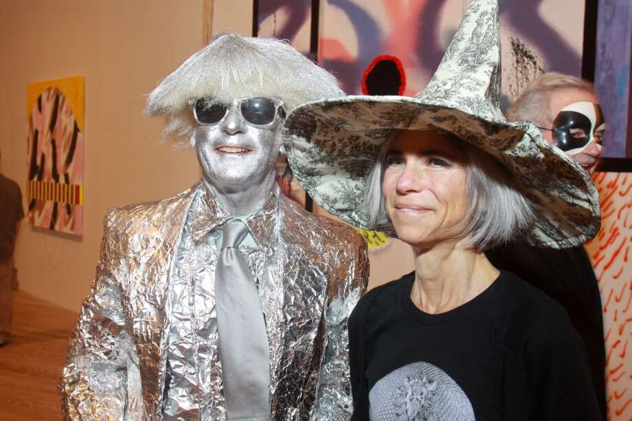 "Tom Van Laan and Judy Nyquist at the Contemporary Arts Museum Houston halloween party and opening of their biggest exhibit of the year, ""Outside the Lines."" on Oct. 31. Photo: Gary Fountain, For The Chronicle"