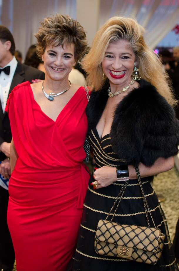 Mari Carmen Ramirez and Sofia Androgue during the Latin Experience Gala at the Museum of Fine Arts on Saturday, Nov. 9. Photo: Jamaal Ellis, For The Chronicle