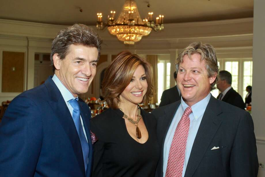 Nick Florescu, from left, Dominique Sachse and Ted Kennedy Jr. at the Cancer Forward Luncheon on Nov. 14 Photo: Gary Fountain, For The Chronicle