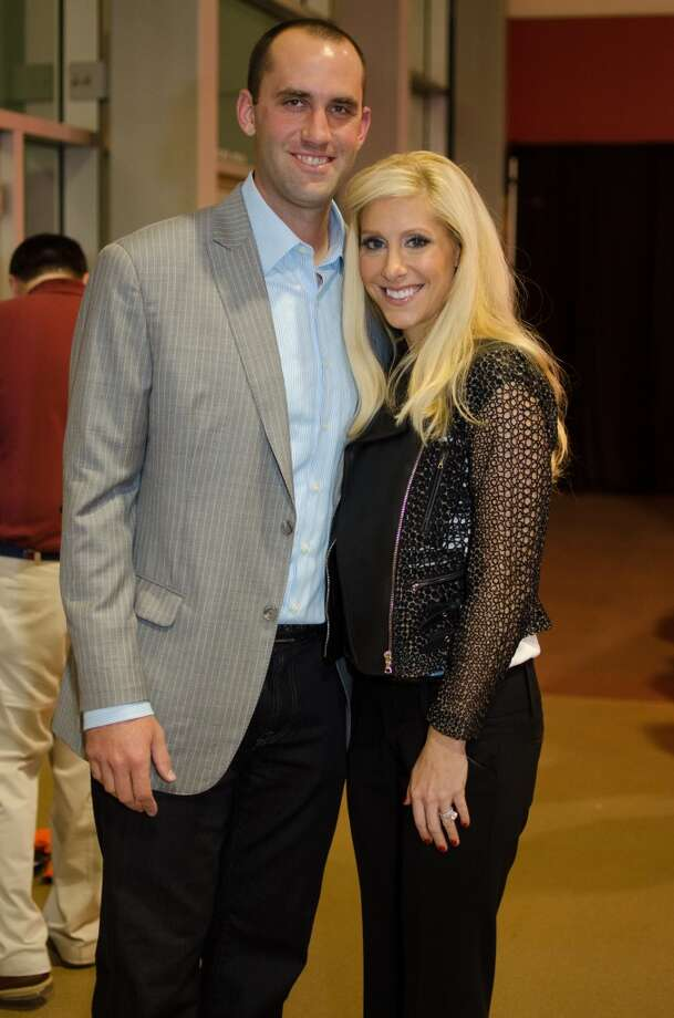 Houston Texans Quarterback Matt Schaub with wife Lauri during Friday Night Lights Benefiting Depelchin Children's Center on Friday, Nov. 15 at Reliant Stadium. Photo: Jamaal Ellis, For The Chronicle