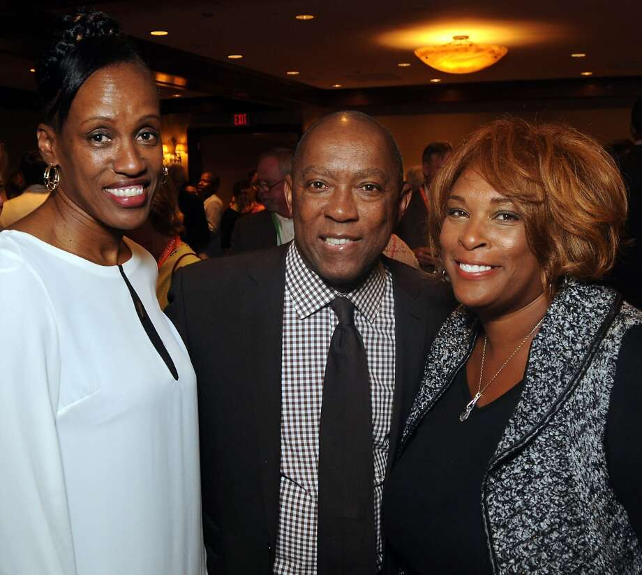 "Jackie Joyner-Kersee, U.S. Rep. Sylvester Turner and Zina Garrison at the ""Story of Love"" gala benefitting the Zina Garrison Tennis Academy on Nov. 16. Photo: Dave Rossman, For The Houston Chronicle"