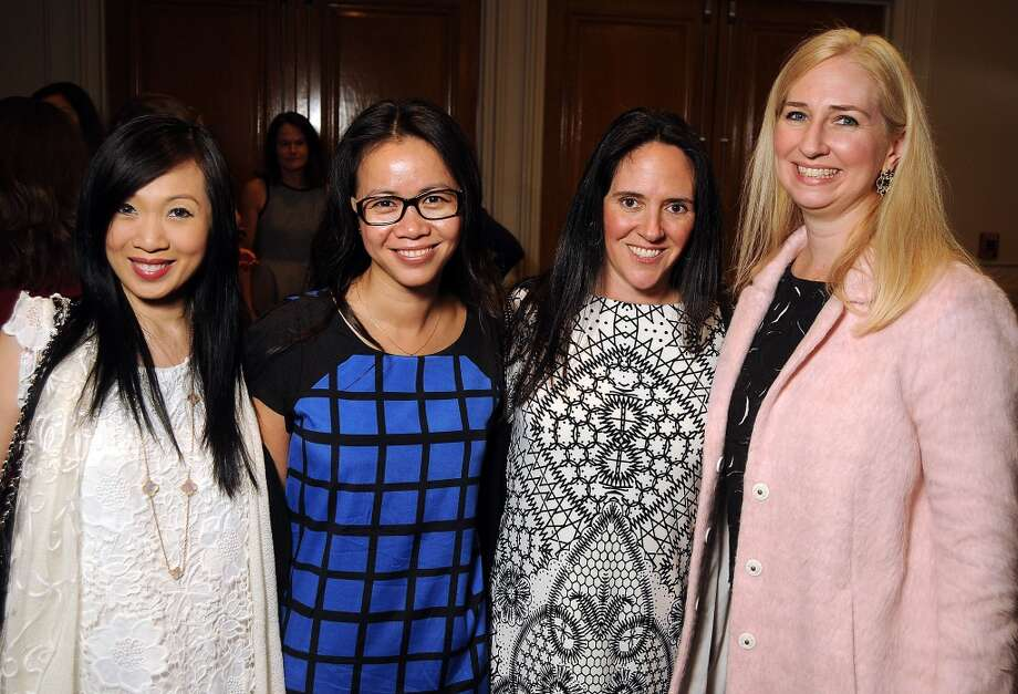 From left: Connie Kwan-Wong, Hanh Tran, Arielle Lawson-Ho and Suzanne Steiles at the Angels of Hope Luncheon at the Westin Galleria Hotel Tuesday Dec. 3. Photo: Dave Rossman, For The Houston Chronicle