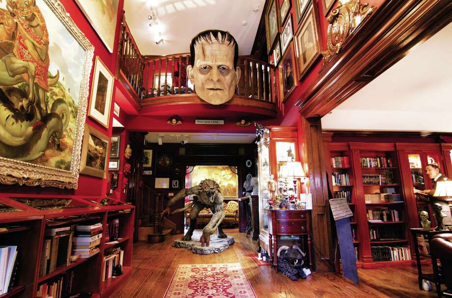 "The foyer of Guillermo del Toro's  Bleak House is shown in ""Cabinet of Curiosities."" Photo: Harper Design / San Antonio Express-News"