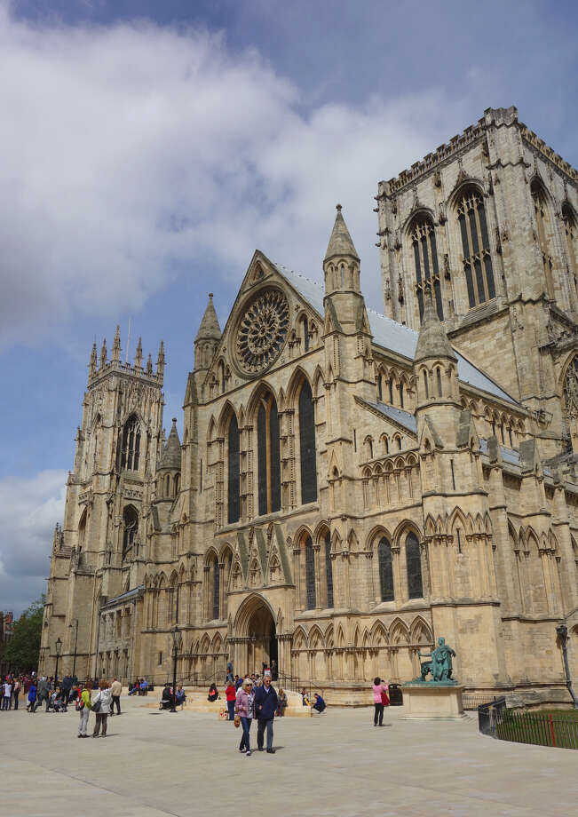 The York Minster is the largest Gothic church north of the Alps (540 feet long, 200 feet tall), and has more original medieval glass than the rest of England's churches combined. (photo: Rick Steves) Photo: Ricksteves.com / © Rick Steves Europe  (www.ricksteves.com)
