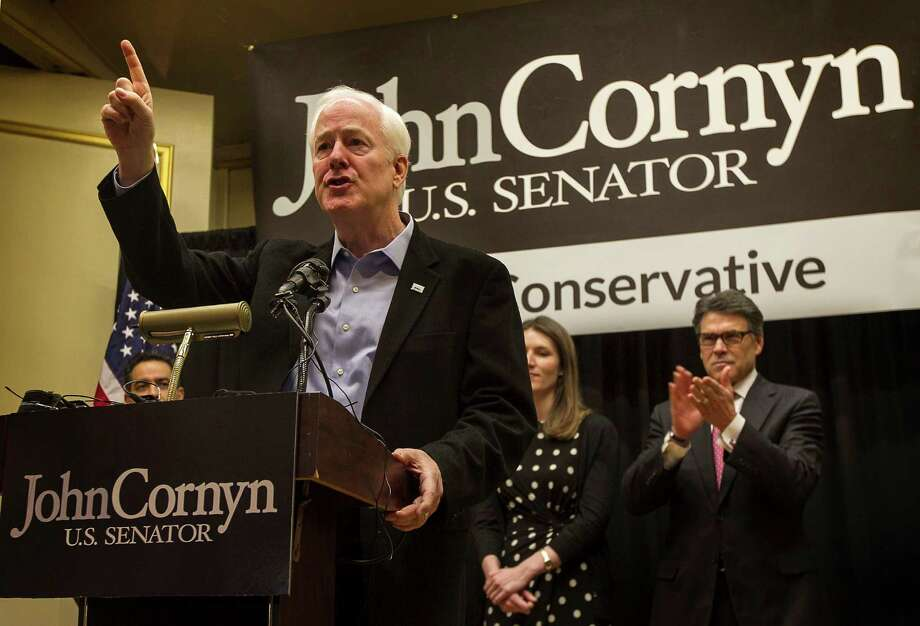 U.S. Sen. John Cornyn speaks to supporters during his re-election campaign kickoff rally last month in Austin. Photo: Rodolfo Gonzalez, MBO / Austin American-Statesman