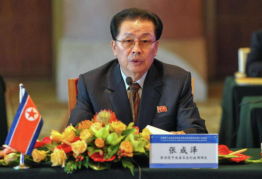 "FILE - In this Aug. 14, 2012 file photo provided by China's Xinhua News Agency, Jang Song Thaek, North Korea's vice chairman of the powerful National Defense Commission, attends the third meeting on developing the economic zones in North Korea, in Beijing. North Korean state media say Kim Jong Un's uncle has been executed, calling the leader's former mentor ""worse than a dog."" The announcement on Thursday evening, Dec. 12, 2013,  comes days after Pyongyang announced that Jang Song Thaek had been removed from all his posts because of allegations of corruption, drug use, gambling, womanizing and generally leading a ""dissolute and depraved life.""(AP Photo/Xinhua, Li Xin, File)  NO SALES Photo: Li Xin, SUB / XinHua"