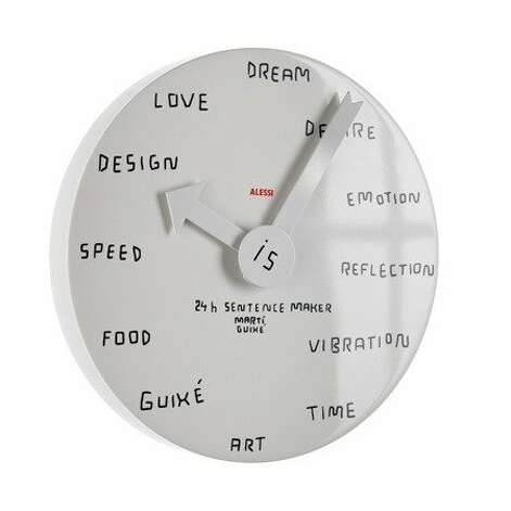 CLOCKS: Designer Marti Guixé's blank wall clock may let you extend the holiday countdown, $167, 424 Sutter St., (415) 434-4030, www.alessi.com.