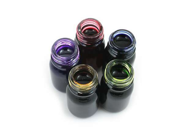 HOME OFFICE: The set of five scented inks from J. Herbin includes Amber Orange, Violet Purple, Rose Red, Lavender Blue and Apple Green, $20, all www.jetpens.com Photo: Jetpens.com