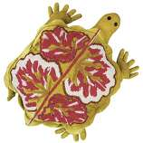 STOCKING STUFFERS: Slow and chartreuse wins the race, or at least that's what Anke Dreschsel's turtle, $280, www.neimanmarcus.com, hopes.