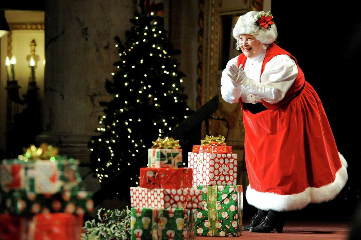 Paula Ginder plays the part of Mrs. Claus during the Melodies of Christmas on Thursday, Dec. 12, 2013, at Proctors Theater in Schenectady, N.Y. The show featured the Empire State Youth Orchestra, the Empire State Youth Chorale and the Northeast Ballet. (Cindy Schultz / Times Union)