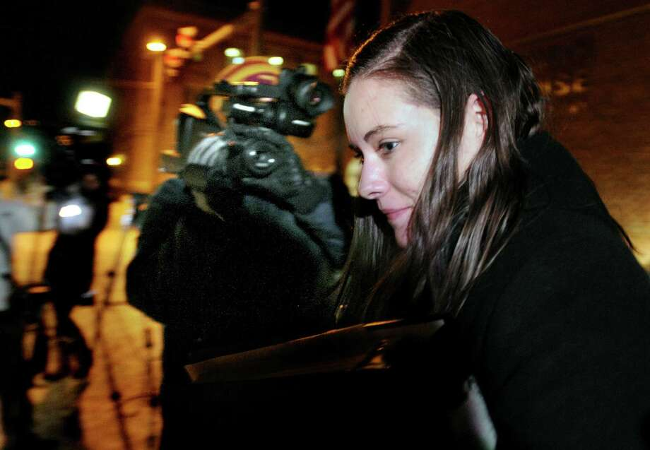 Jordan Graham leaves a courthouse in Missoula, Mont., on Monday after the first day of her murder trial. Before closing arguments were to begin Thursday, she pleaded guilty to second-degree murder. Photo: Kurt Wilson / Associated Press / MISSOULA MISSOULIAN
