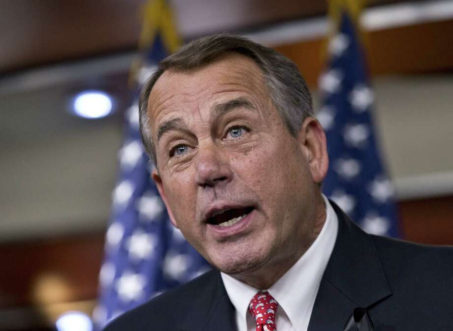 At a news conference, House Speaker John Boehner of Ohio rebukes conservative foes of the budget deal, saying the GOP leadership has had enough tea-party-driven intransigence. Photo: J. Scott Applewhite / Associated Press / AP