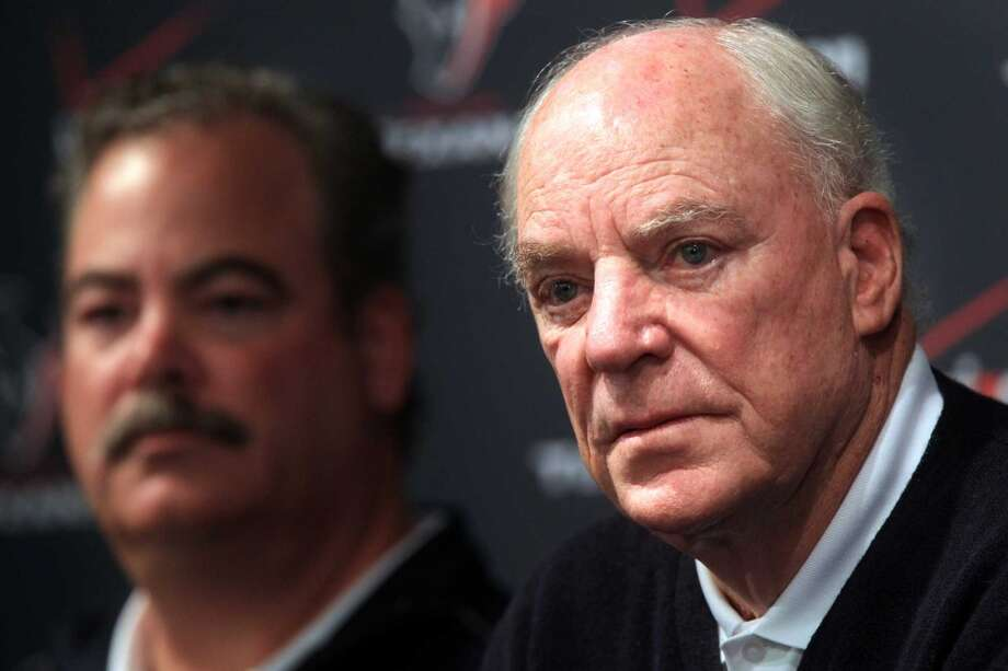 Bob McNair can only wonder how it all went so horribly wrong this much-anticipated season. Photo: Mayra Beltran, Houston Chronicle