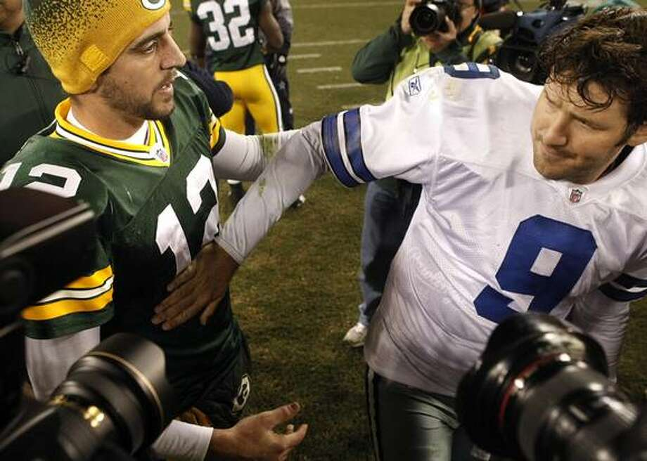Rodgers and Romo unlikely to resume the quarterback battles Sunday in Dallas.