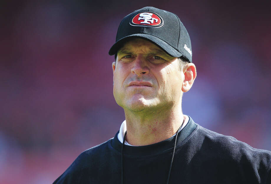 Jim Harbaugh likely has his football sights focused on something Super rathan than succeeding Mack Brown. Photo: Marcio Jose Sanchez, AP / AP