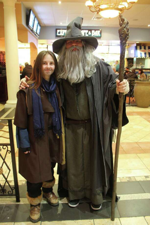 San Antonio fans of Middle Earth turned out late Thursday, Dec. 12, 2013, for the debut of 'The Hobbit: The Desolation of Smaug' at the Palladium theater. Photo: Libby Castillo/For MySA.com