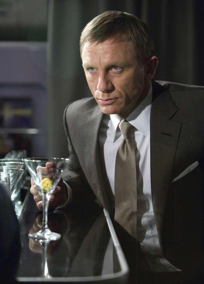 James Bond and his signature martini. Photo: Anonymous, AP