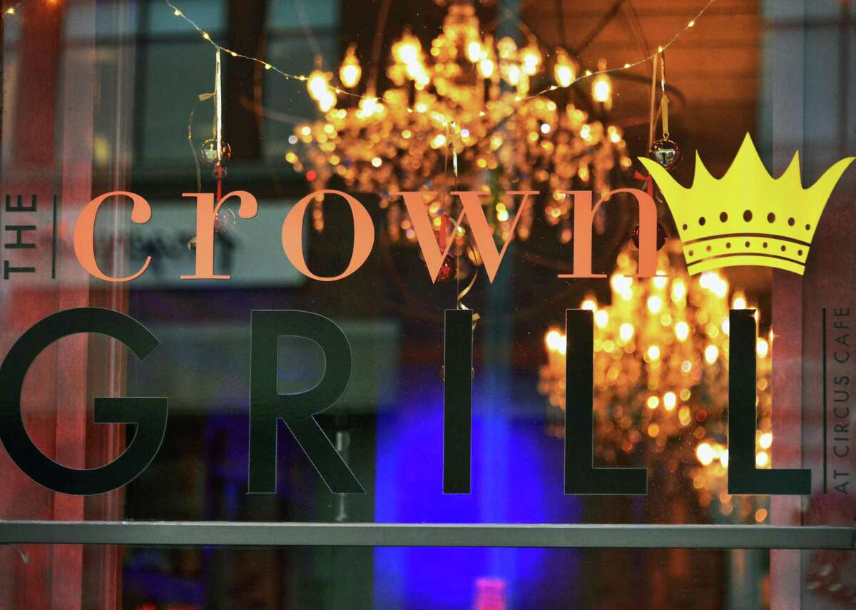 Front window at The Crown Grill at 390 Broadway Thursday, Dec. 5, 2013, in Saratoga Springs, N.Y. (John Carl D'Annibale / Times Union)
