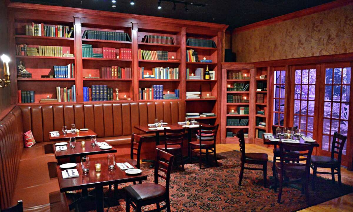 The Crown Grill. 390 Broadway, Saratoga Springs. The library dining room at The Crown Grill at 390 Broadway Thursday, Dec. 5, 2013, in Saratoga Springs, N.Y. (John Carl D'Annibale / Times Union)