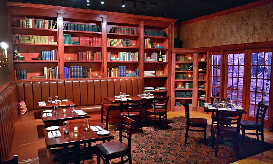 The Crown Grill. 390 Broadway, Saratoga Springs.The library dining room at The Crown Grill at 390 Broadway Thursday, Dec. 5, 2013, in Saratoga Springs, N.Y.  (John Carl D'Annibale / Times Union) Photo: John Carl D'Annibale / 00024915A