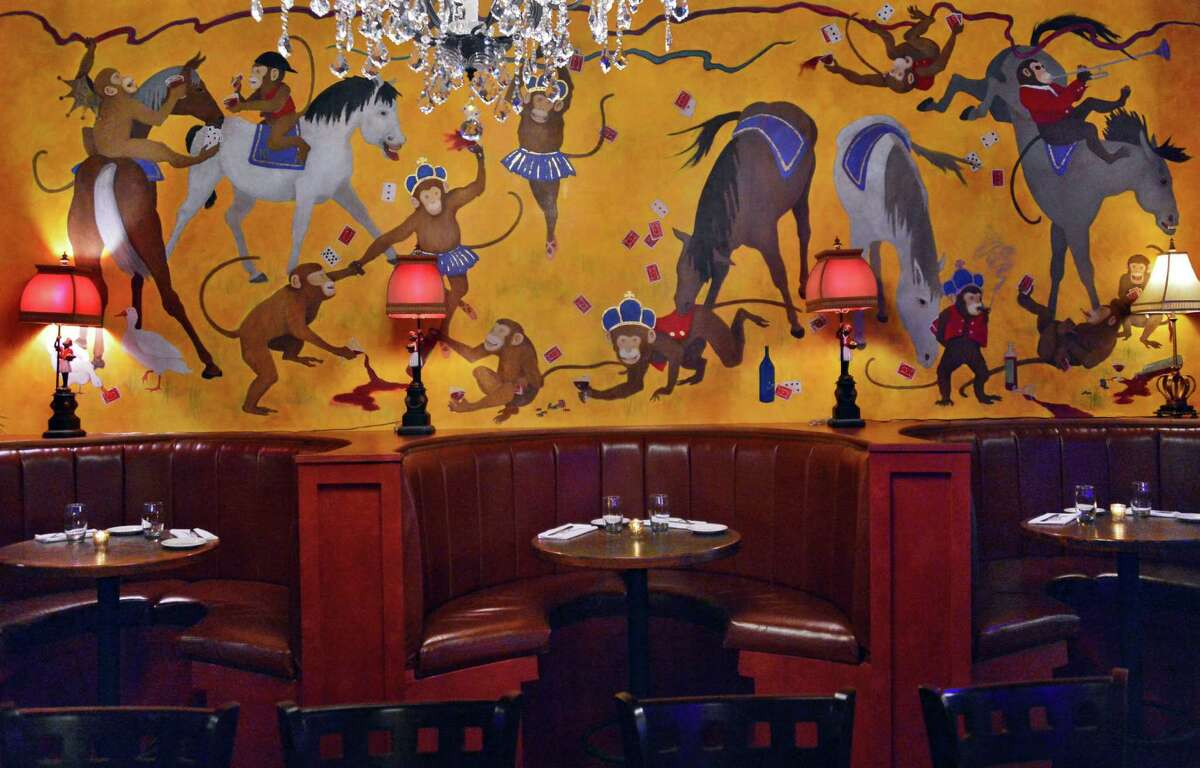 The Crown Grill. 390 Broadway, Saratoga Springs. Booths in the bar dining room at The Crown Grill at 390 Broadway Thursday, Dec. 5, 2013, in Saratoga Springs, N.Y. (John Carl D'Annibale / Times Union)