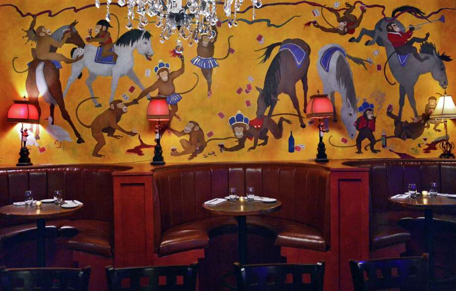 The Crown Grill. 390 Broadway, Saratoga Springs.Booths in the bar dining room at The Crown Grill at 390 Broadway Thursday, Dec. 5, 2013, in Saratoga Springs, N.Y.  (John Carl D'Annibale / Times Union) Photo: John Carl D'Annibale / 00024915A