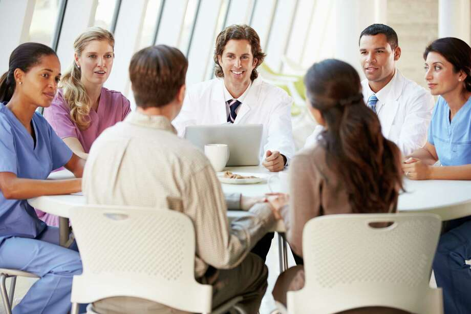 One way nurses can prepare for a leadership position is to volunteer for committees and work groups in the work or community setting. / iStockphoto