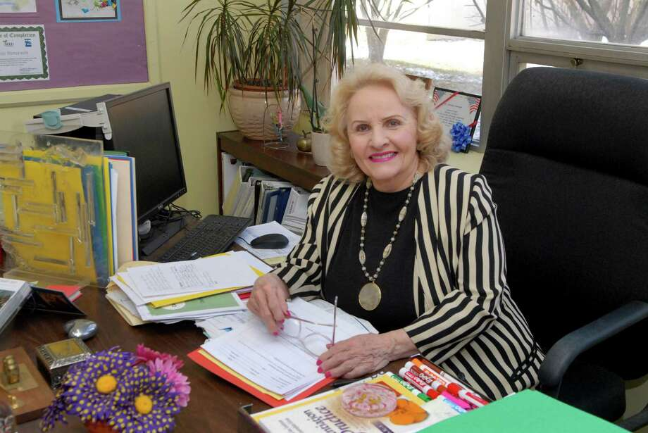 Northeast Elementary School principal Connie Stevenson works in her office on Friday December 13, 2013 in Stamford, Conn. Photo: Dru Nadler / Stamford Advocate Freelance