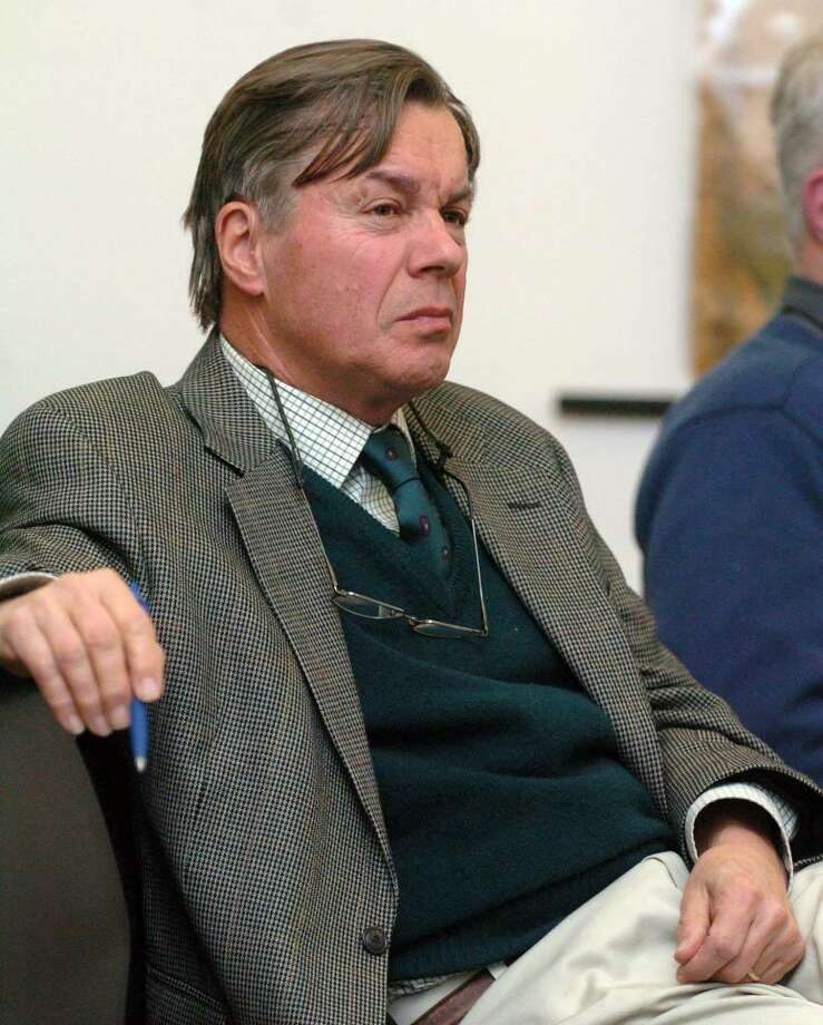 F.Collin Pease the Vice President of the Housatonic Railroad attends a meeting about wetlands and the Housatonic Railroad at the Newtown Municipal Center Wednesday, Jan. 13, 2010. Photo: Chris Ware / The News-Times